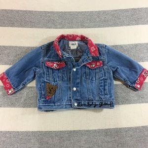 Baby Gap denim jean jacket Bear 3-12 month
